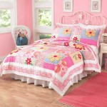 Impressive-Quilts-Coverlets-Kids-Bedding-Design-In-Pink-Wall-Decor-Plus-Bed-Skirts